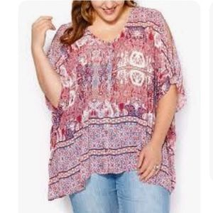 Penningtons | Printed Blouse with Batwing Sleeves